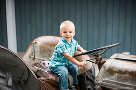 Boy on Tractor | Summerland Family Photographer